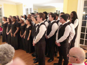 Bel Canto Choir of West Haven High School directed by Phyllis Silver presented holiday songs at The West Haven Historical Society, Poli House.  December 13, 2018